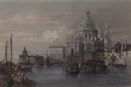 After William Leighton Leitch, Church of Santa Maria della Salute, Venice, engraving by J Redaway,
