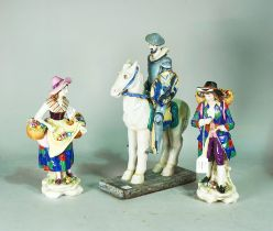 A pair of French porcelain figures of flower sellers