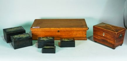 A 19th century oak rectangular box