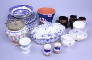 Ceramics, mainly 20th century dinner and tea wares, including Allertons blue and white,...