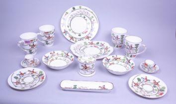 'Crown Staffordshire' part tea service