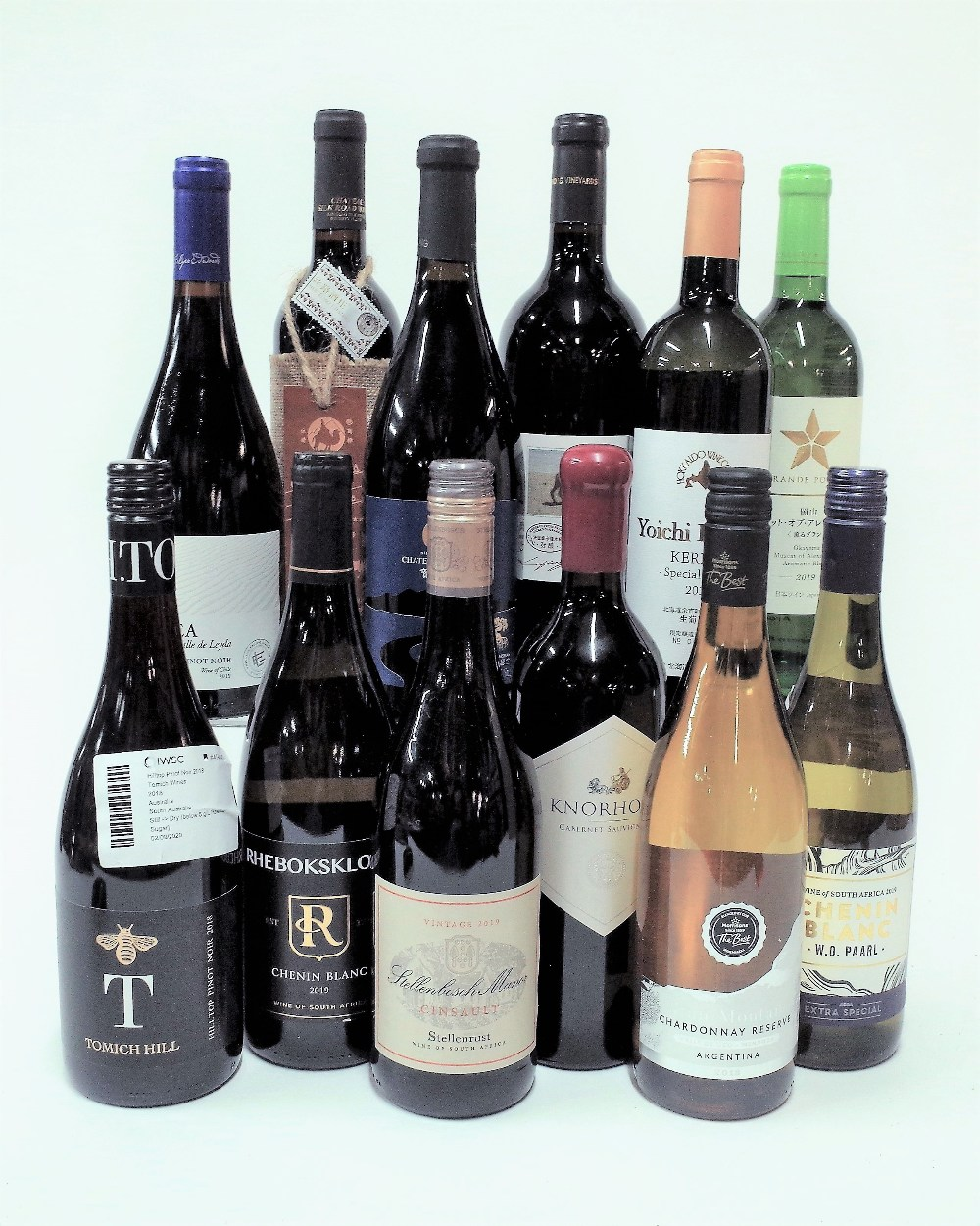 12 BOTTLES MIXED CASE WINES FROM CHINA, SOUTH AFRICA ETC.