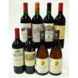8 BOTTLES FRENCH RED AND WHITE WINE