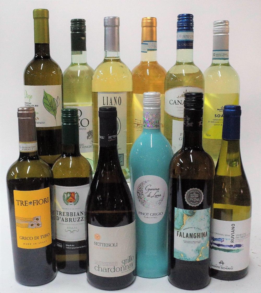 12 BOTTLES ITALIAN WHITE WINE