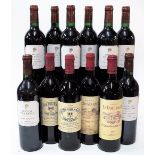 12 BOTTLES FRENCH RED WINE