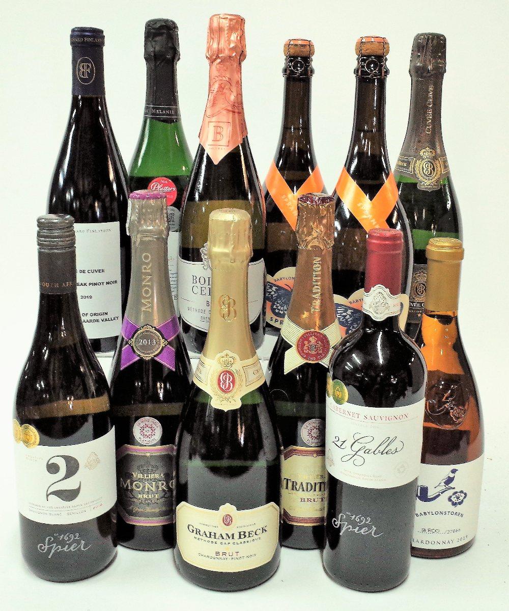 12 BOTTLES SOUTH AFRICAN SPARKLING WINE