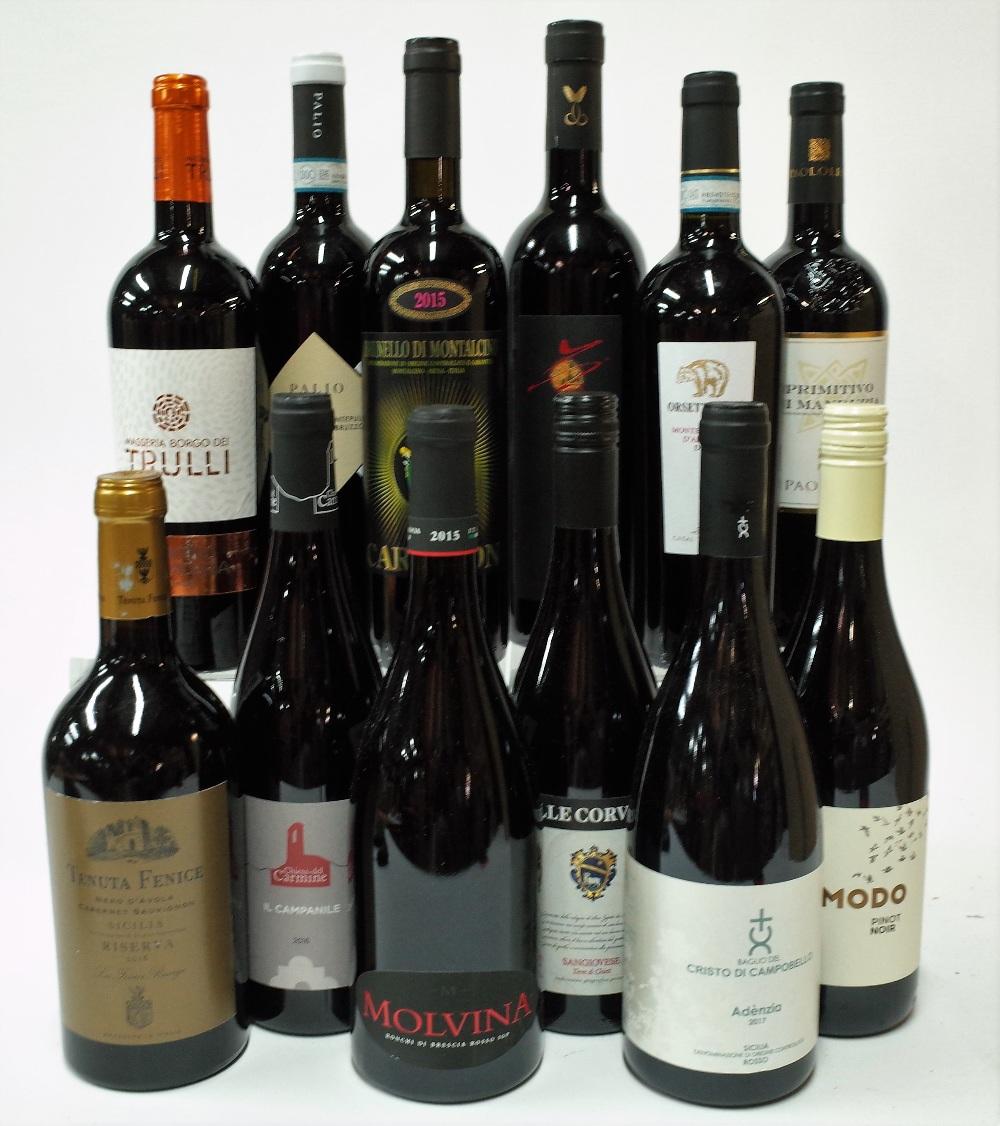 12 BOTTLES ITALIAN RED WINE