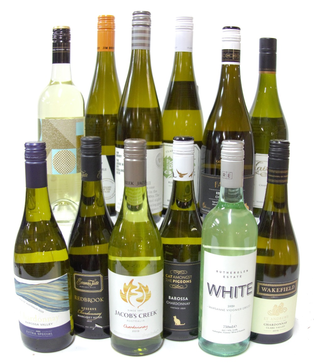 12 BOTTLES AUSTRALIAN WHITE WINE