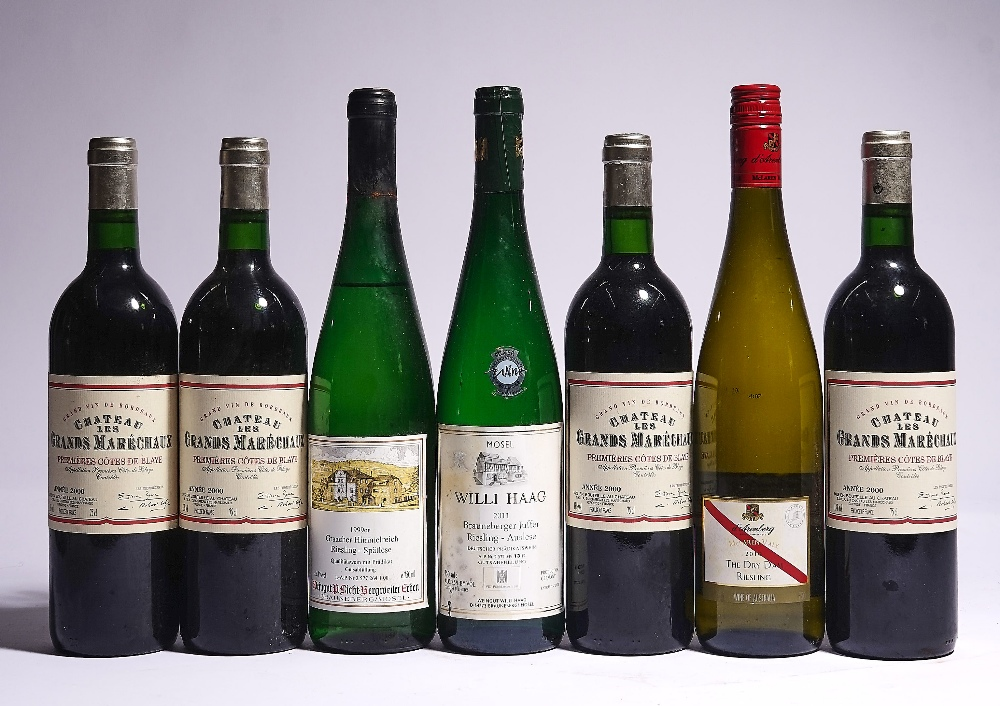 12 BOTTLES ITALIAN AND GERMAN WHITE AND FRENCH RED WINE - Image 3 of 4