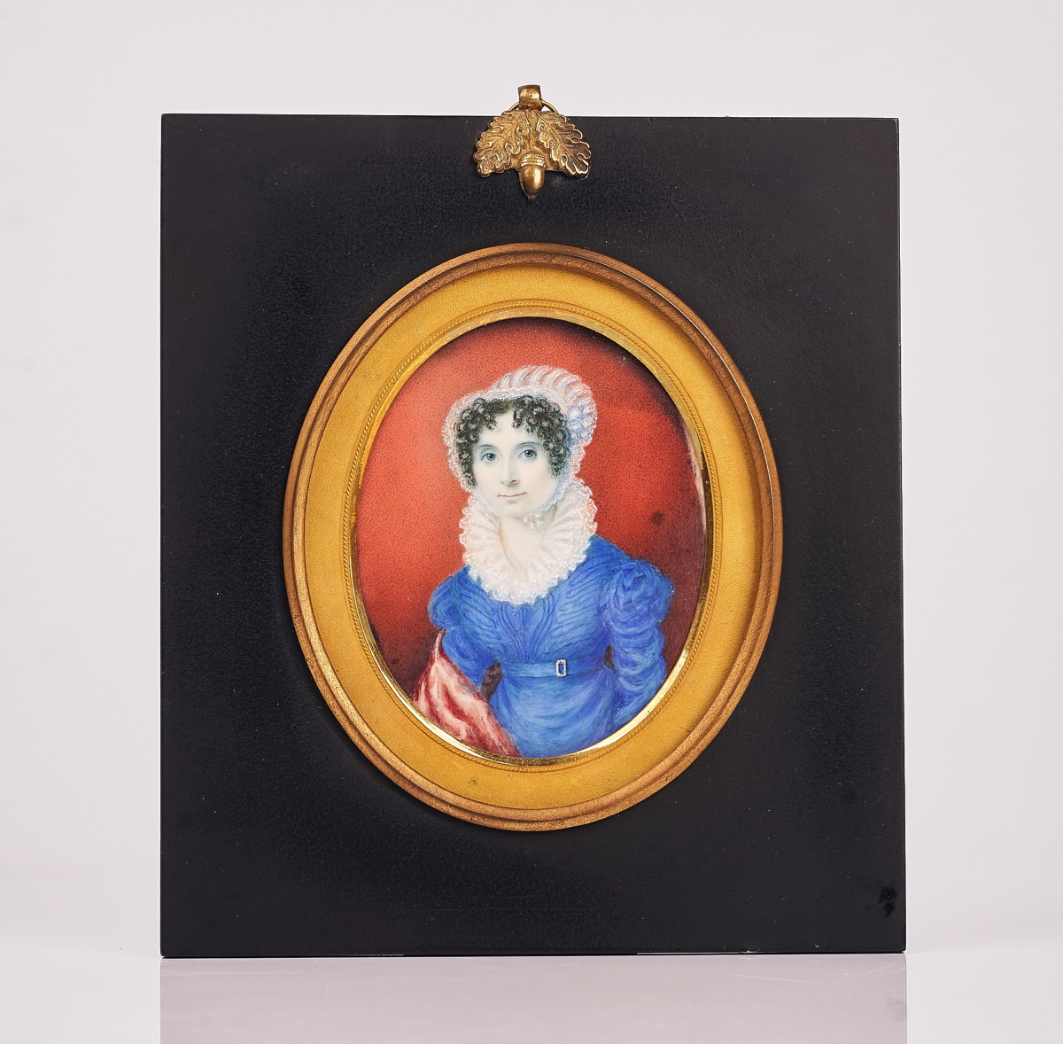 A GROUP OF FIVE PORTRAIT MINIATURES AND TWO SILHOUETTES (7) - Image 5 of 19