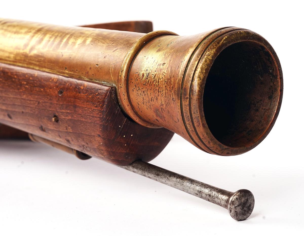 A FLINTLOCK SWIVEL BLUNDERBUSS 'BOAT GUN' - Image 5 of 13