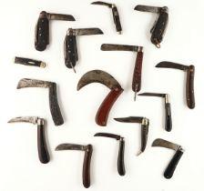 FIFTEEN ASSORTED POCKET KNIVES (15)
