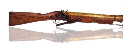 A FLINTLOCK SWIVEL BLUNDERBUSS 'BOAT GUN'
