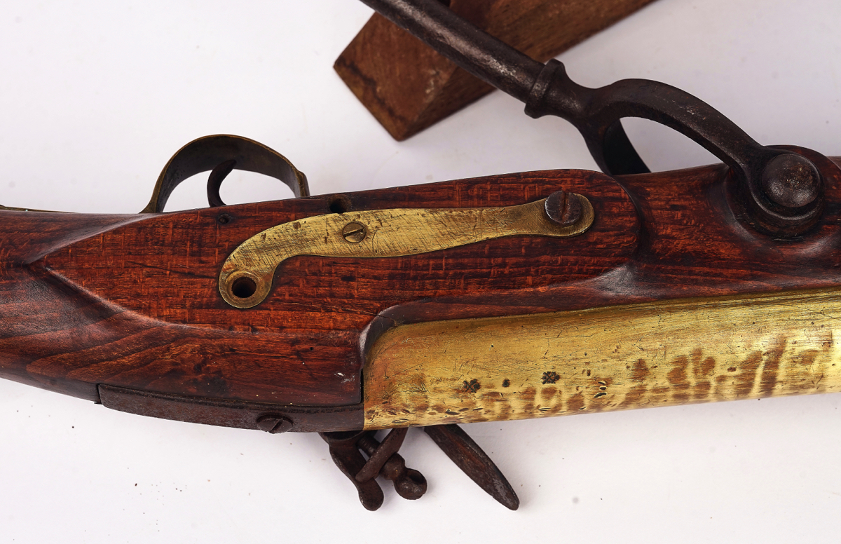 A FLINTLOCK SWIVEL BLUNDERBUSS 'BOAT GUN' - Image 6 of 13