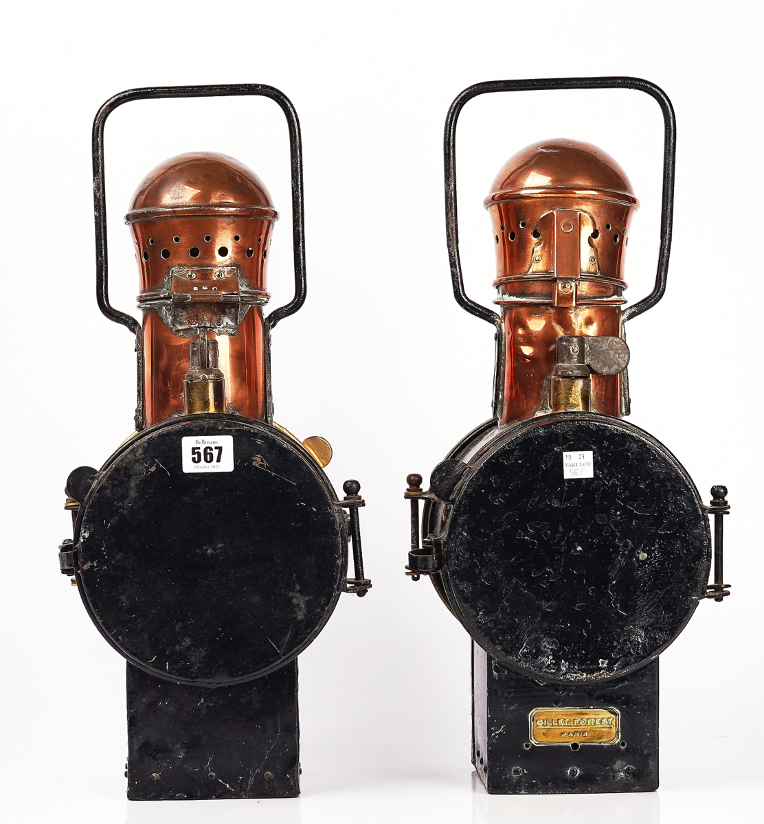 TWO FRENCH S.N.C.F RAILWAY LANTERNS - Image 2 of 5