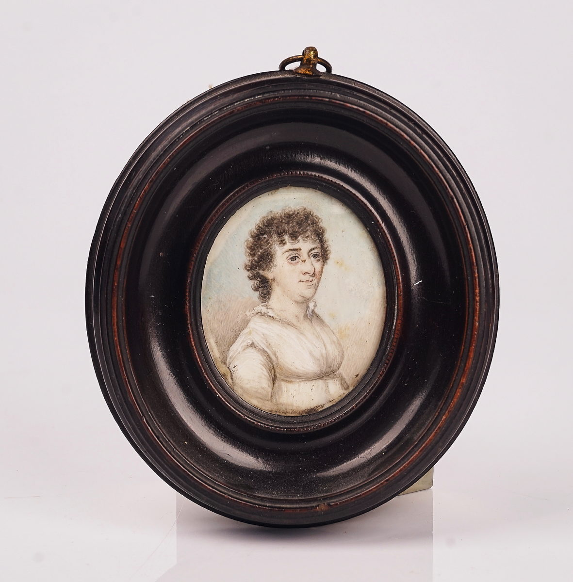 A GROUP OF FIVE PORTRAIT MINIATURES AND TWO SILHOUETTES (7) - Image 17 of 19