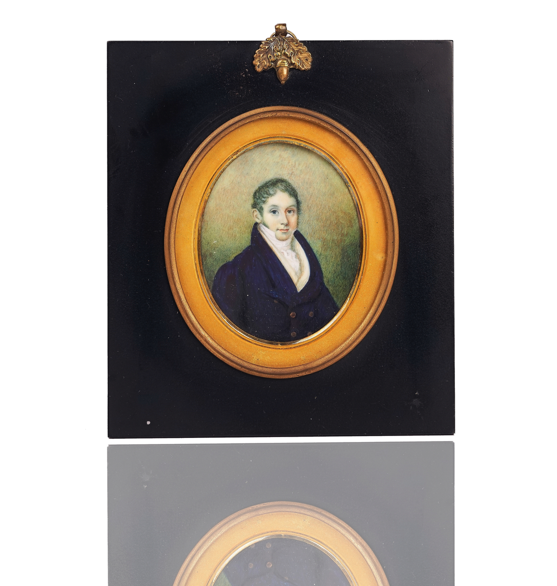 A GROUP OF FIVE PORTRAIT MINIATURES AND TWO SILHOUETTES (7)