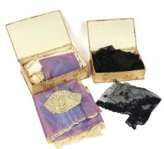 A LARGE COLLECTION OF HAND-MADE LACE
