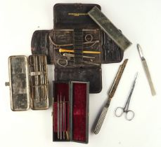 A COLLECTION OF SURGICAL INSTRUMENTS