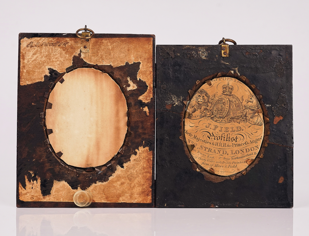 A GROUP OF FIVE PORTRAIT MINIATURES AND TWO SILHOUETTES (7) - Image 11 of 19
