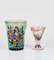 A VENETIAN HISTORISMUS ENAMELLED GLASS GOBLET (2)
