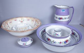 CERAMICS, INCLUDING A QUANTITY OF MOSTLY EARLY 20TH CENTURY JUGS, TWO LARGE BOWLS (QTY)