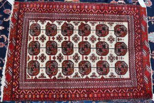 AN INDIAN BOKHARA RUG AND TWO OTHERS (3)