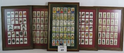 Four framed sets of Players cigarettes c