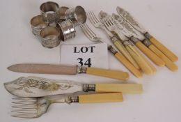 A set of six good quality Art Nouveau si
