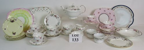 Mixed part tea sets including Royal Doul