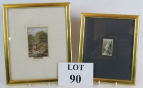 Two gilt framed Baxter prints, one being