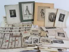 A large collection of unframed maps engr