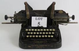 A vintage Oliver No II Batwing typewrite