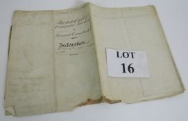 A historic land charge document relating