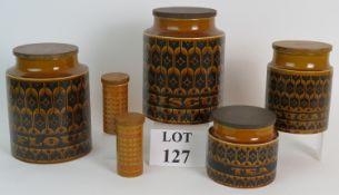 Four 1970's Hornsea heirloom autumn brow