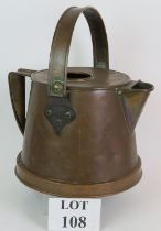 A large 19th Century copper two handled