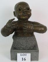 "Sir Jacob Epstein (1880-1959), ""2nd portrait of baby Leda"", bronze, c."