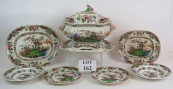 A large 19th Century covered soup tureen