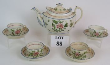 An early 19th Century hand decorated tea