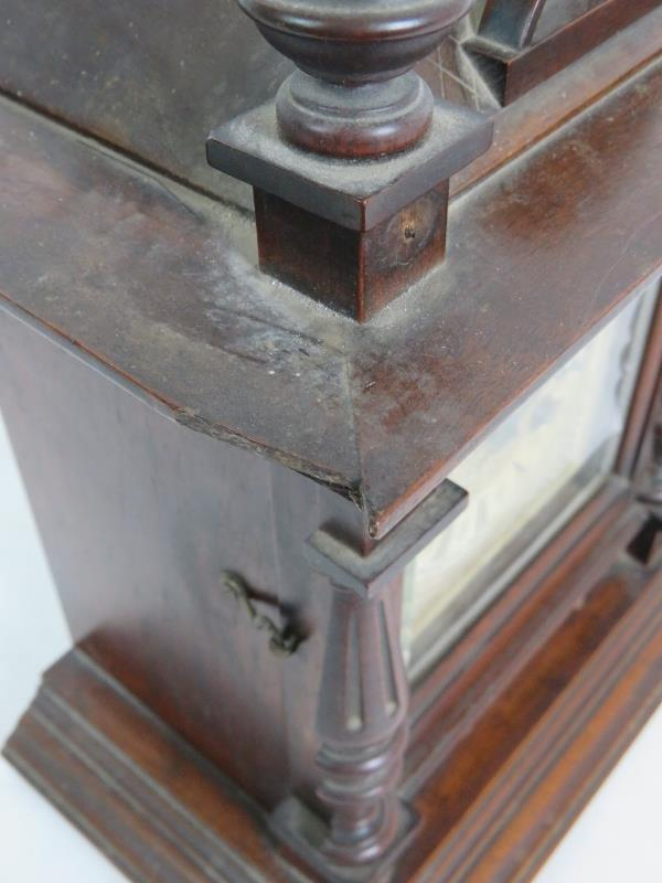 A late 19th Century Junghans oak cased s - Image 5 of 7