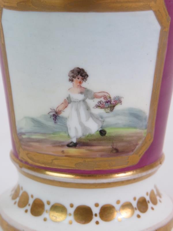 A pair of Regency porcelain spill vases - Image 7 of 7