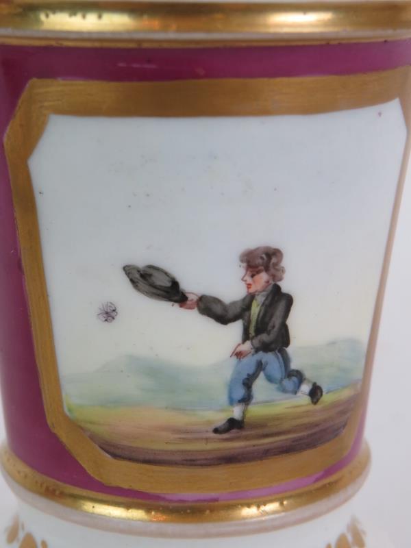 A pair of Regency porcelain spill vases - Image 6 of 7
