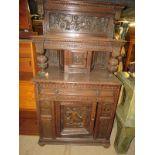 A basically 17th Century oak tri-dresser