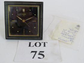 A Retro black leather cased Luxor 925 al