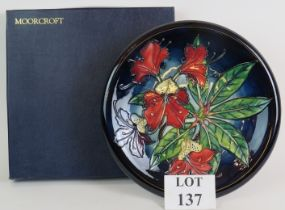 Moorcroft pottery Lily large wall plate