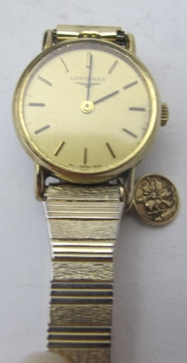 A ladies Longines wristwatch 'Gold Elect - Image 2 of 3