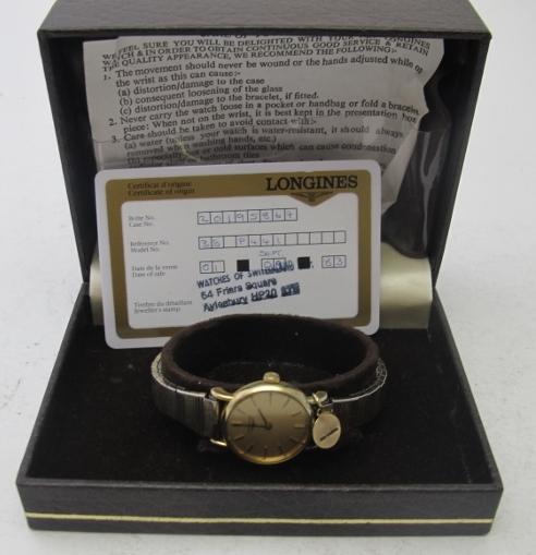 A ladies Longines wristwatch 'Gold Elect