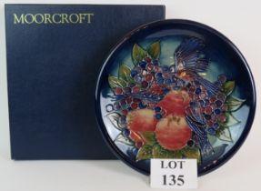 Moorcroft pottery 'Finch on Fruit' large