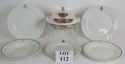 A silver plated regimental serving dish