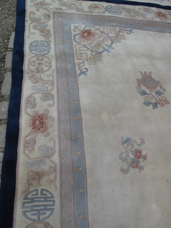 A large 20th century Chinese carpet on c - Image 6 of 6